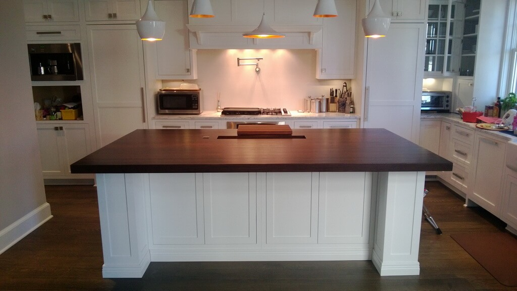 wood and stainless steel kitchen island drop in farmhouse sinks classic white - brooks custom