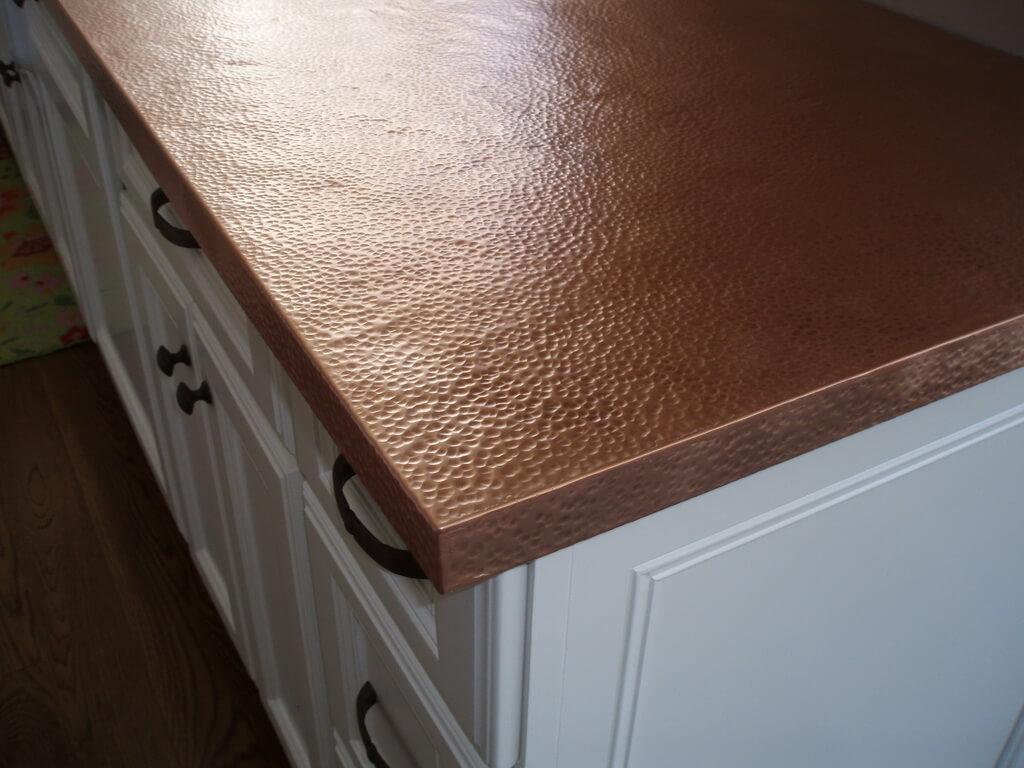copper kitchen countertops and bathroom brooks custom