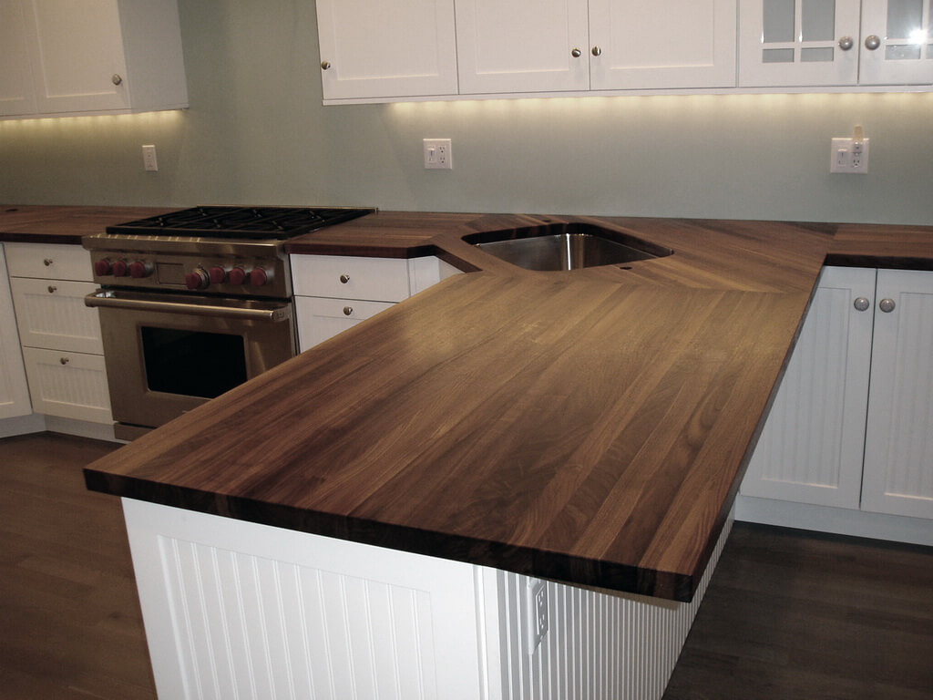 Kitchen Countertops Look Wood