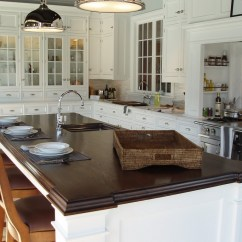 Kitchen Island Countertops Pull Out Drawers Premium Wide Plank Wood