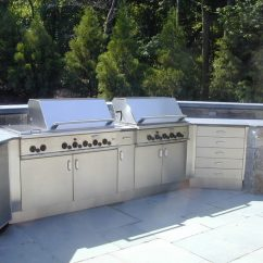 Outdoor Kitchen Cabinets Stainless Steel Sink Strainers Countertops Brooks Custom