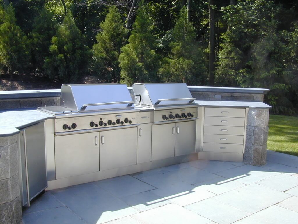 stainless steel outdoor kitchen cabinet knobs and handles countertops brooks custom
