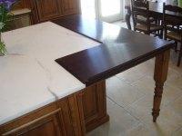 Wide Plank Wood Countertop Details - Brooks Custom