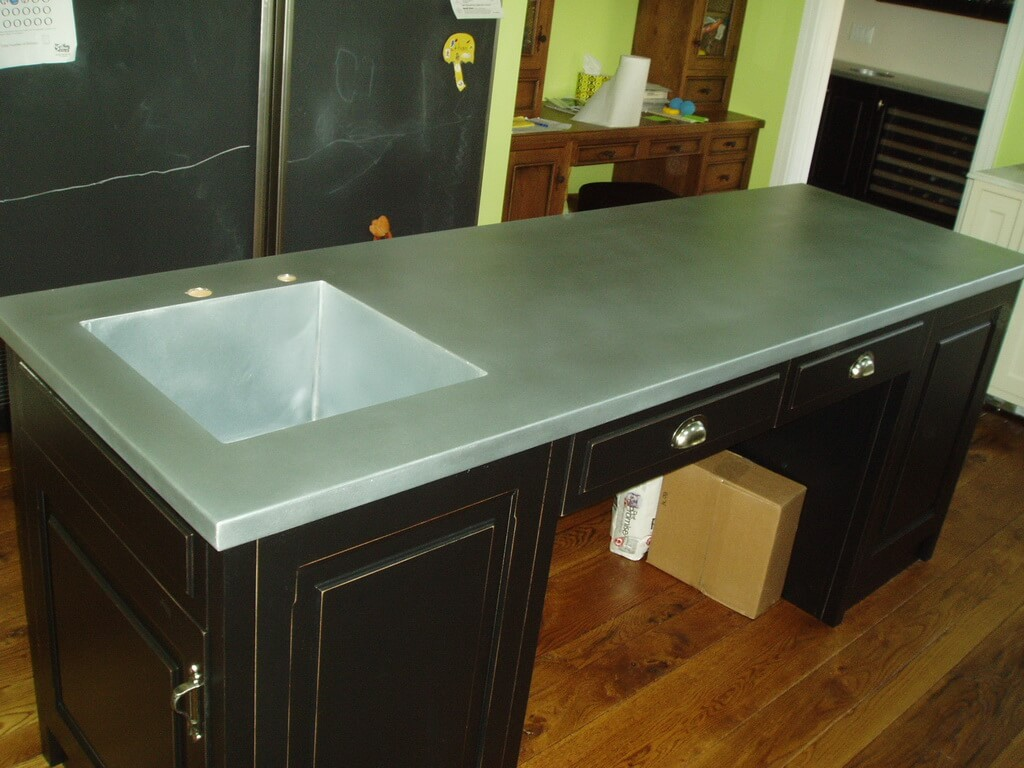 Zinc Countertop Gallery  Brooks Custom