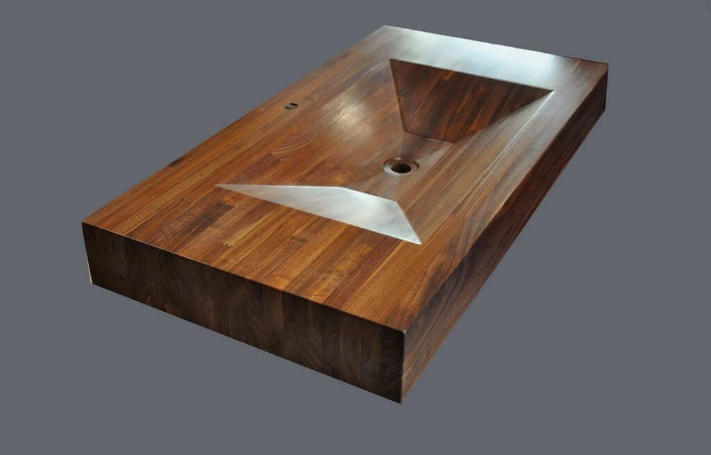copper kitchen sink table with leaf custom portfolio - brooks