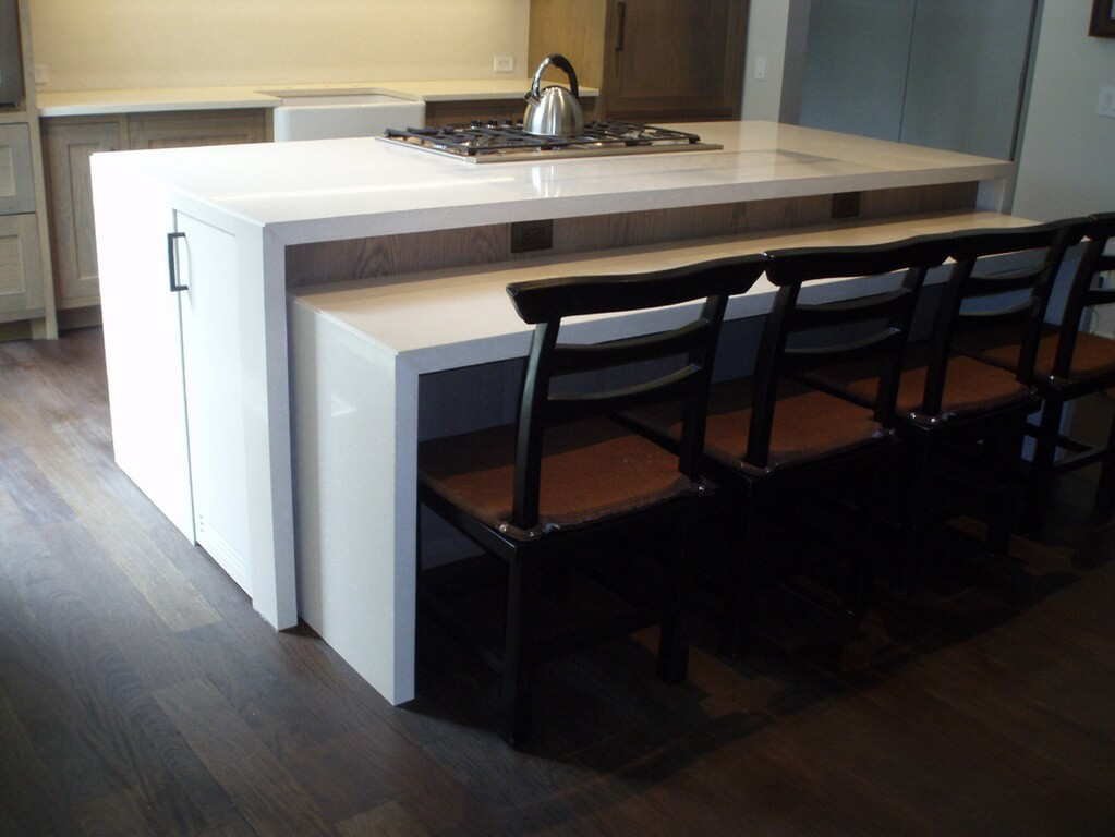 pub style kitchen table remodel how to waterfall concrete tops - brooks custom
