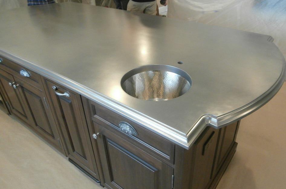 Stainless Steel Artisan Cast Kitchen Island Brooks Custom