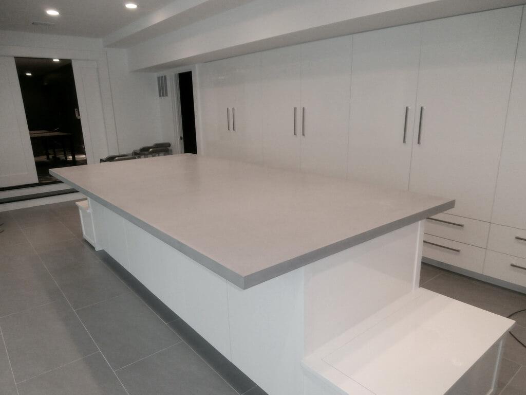ready made island for kitchen exhaust fan verdicrete concrete countertops - brooks custom