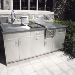 Outdoor Kitchen Storage 30 Gallon Trash Can Aluminum Cabinets 28 Images