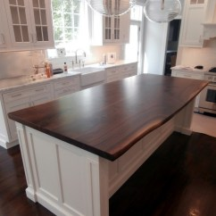 Kitchen Island Countertops Design Your Own Lowes Live Edge Wood Brooks Custom