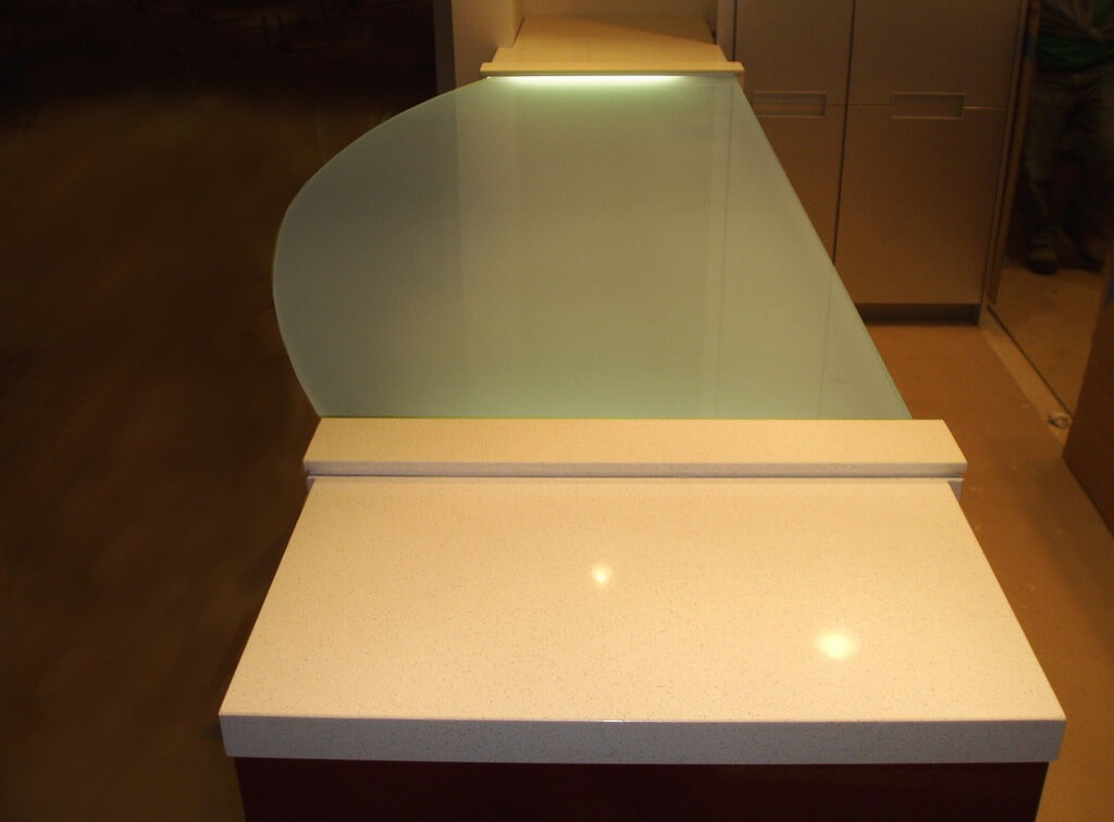 Glowing Glass Countertops  Brooks Custom