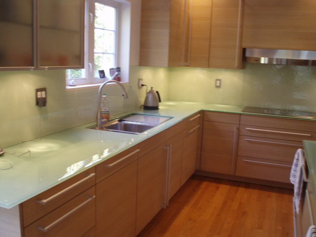 best kitchen countertop sink soap dispenser backpainted glass countertops - brooks custom