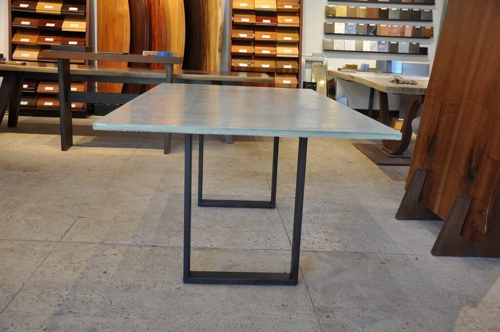 zinc top kitchen island exhaust regular glass countertops - brooks custom