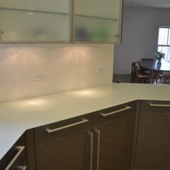 Kitchen Countertops Materials Mirrored Backsplash Backpainted Glass - Brooks Custom