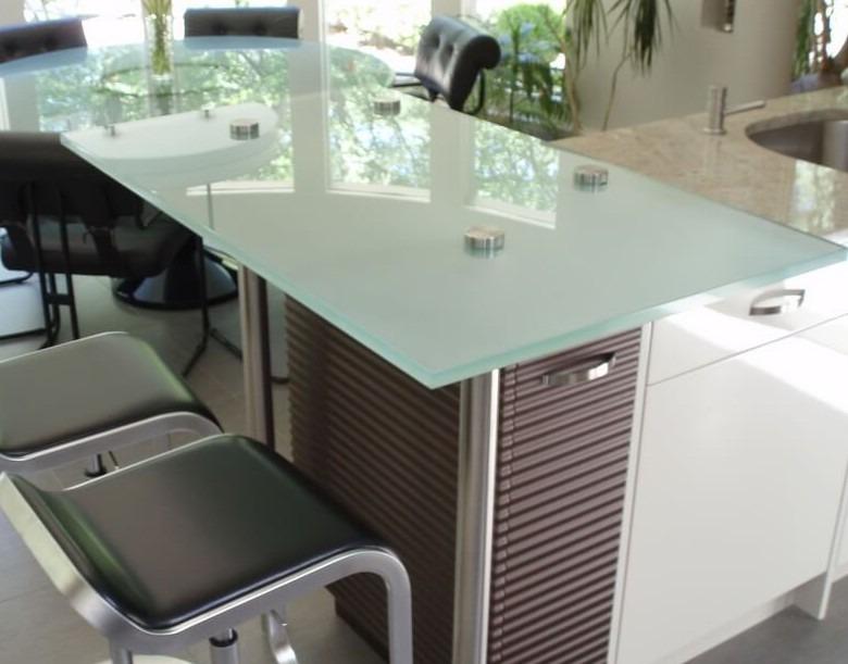Regular Glass Countertops  Brooks Custom