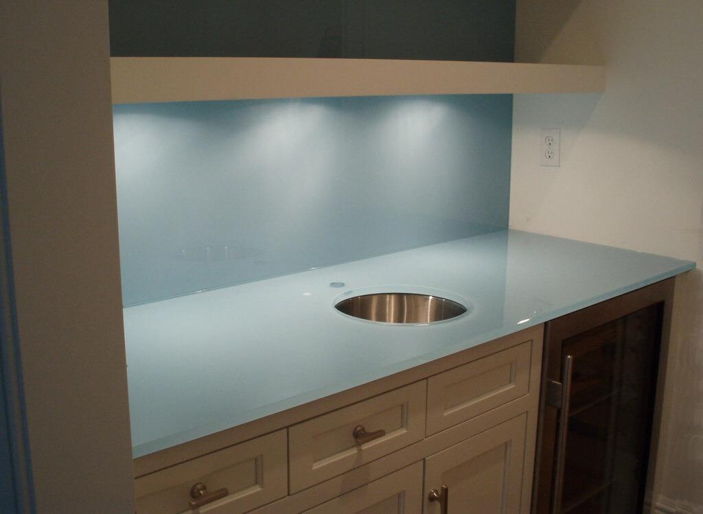 Backpainted Glass Wall Panels  Brooks Custom