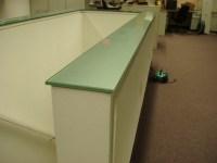 Backpainted Glass Countertops - Brooks Custom