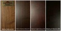 Wood Color Options - Brooks Custom