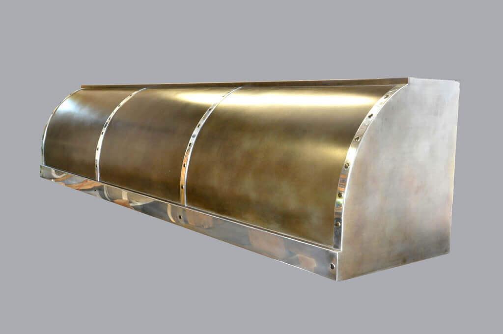 copper kitchen countertops cabinet finishes zinc range hood gallery - brooks custom