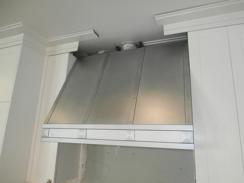 copper kitchen countertops turquoise aid mixer zinc range hood gallery - brooks custom