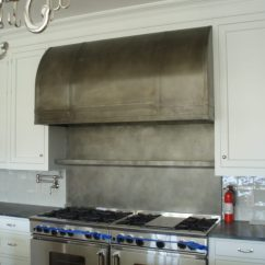 Kitchen Tops Stainless Steel Cabinets Manufacturers Zinc Range Hood Gallery - Brooks Custom