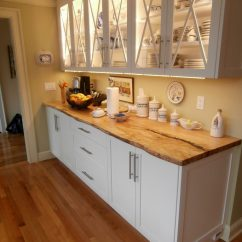 Stainless Steel Kitchen Cabinets Toys Live Edge Wood Countertops Gallery - Brooks Custom