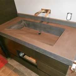 Concrete Kitchen Sink Target Table Sets Engineered Products Brooks Custom