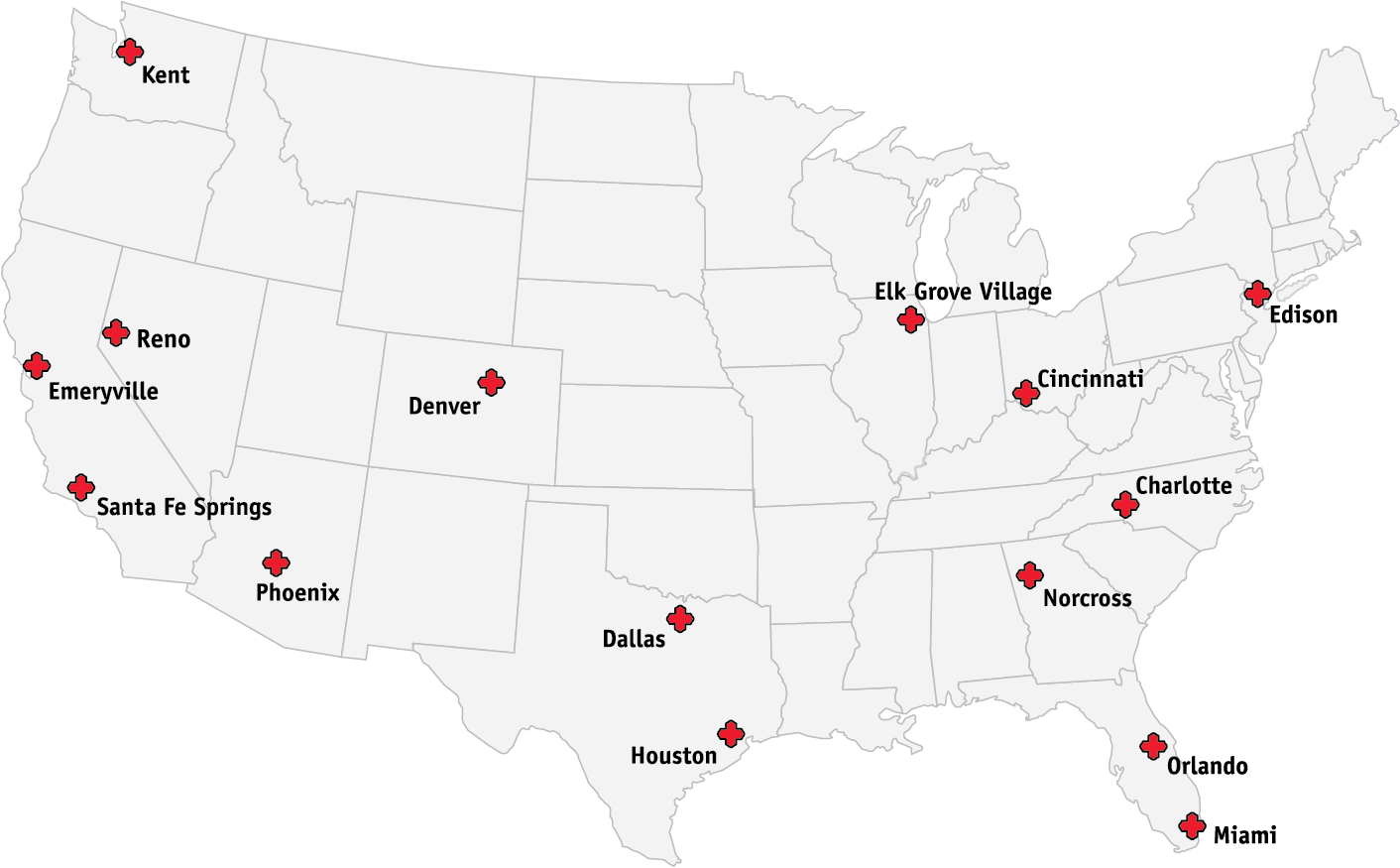 Brooks Map of Locations