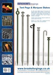 Tent Pegs / Marquee Stakes, UK Manufacturer - 2018 Brooks ...
