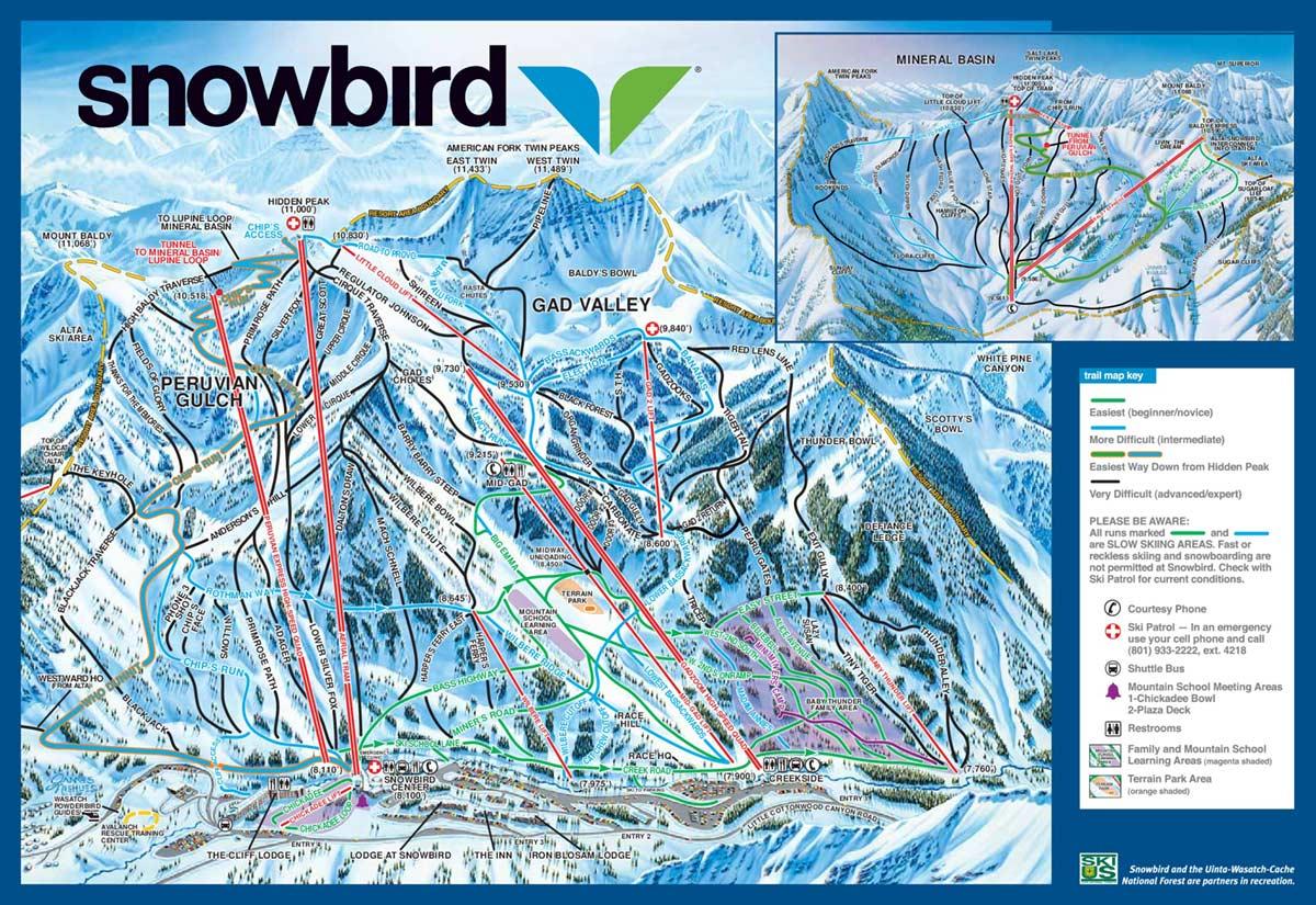 Snowbird Trail Map