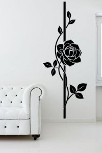 Beautiful Large Rose Wall Decal | Wall Stickers Store - UK ...