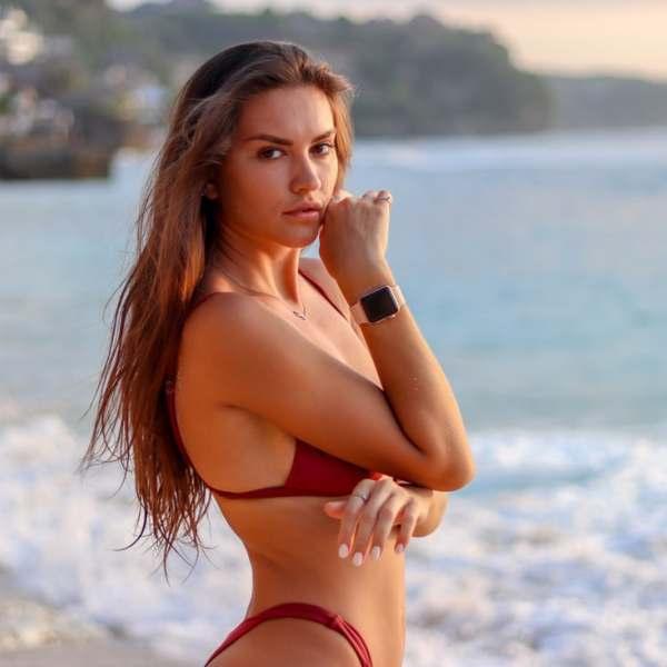 Diana Lukmanova Red Bikini