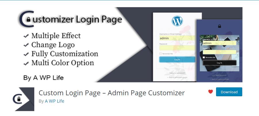 Custom-login page