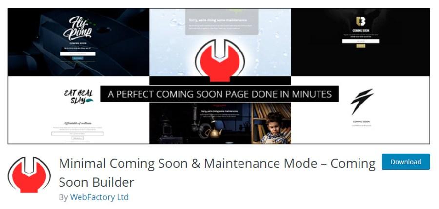 Minimal Coming Soon & Maintenance Mode Plugin