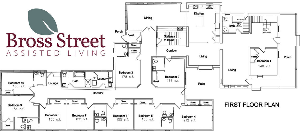 floor plan assisted living
