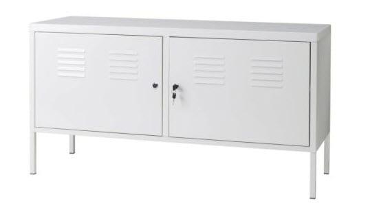 Best Uniquely Cool TV Stand  IKEA White Metal Locker TV Cabinet