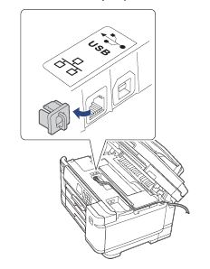 Ethernet port location on machine