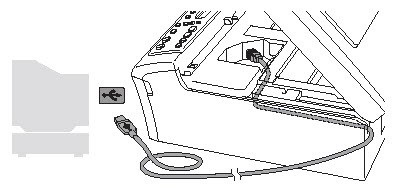 Location of the USB port on the machine