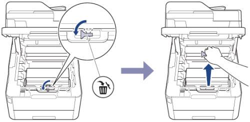 remove waste toner clip
