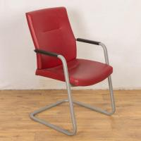 Connection Red Leather Meeting Chair