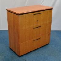 Gordon Russell Cherry 3 Drawer Lateral Filing Cabinet