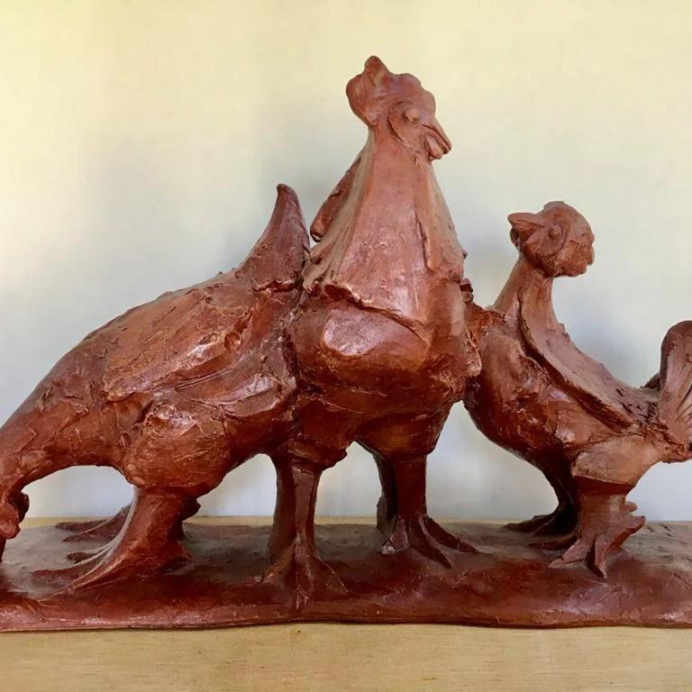 sculpture-poules