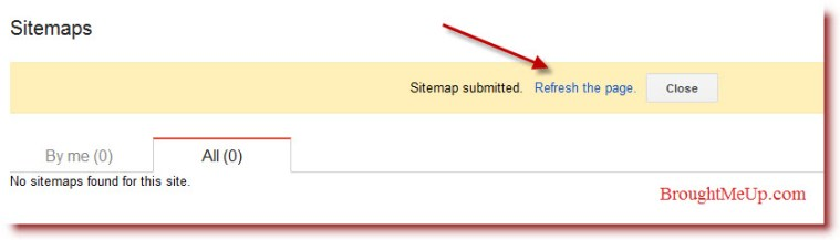 Submitted Sitemap to Google