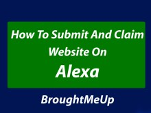 Submit and claim site on Alexa