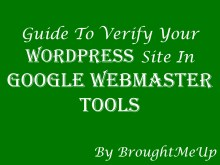 how to verify wordpress blog in google webmaster tools