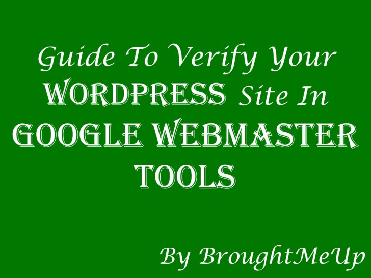 add and verify wordpress site in google webmaster tools