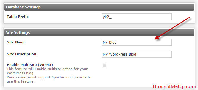 wordpress site description