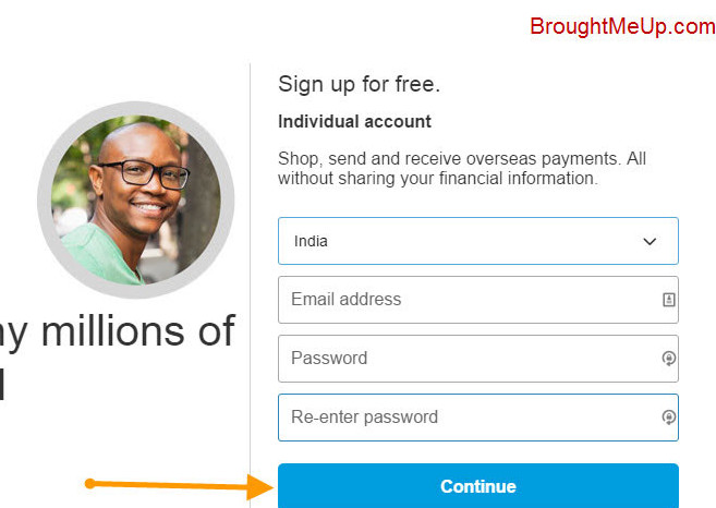 PayPal email account details