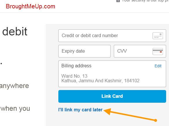 link credit/debit card