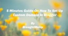 setup custom domain in blogger